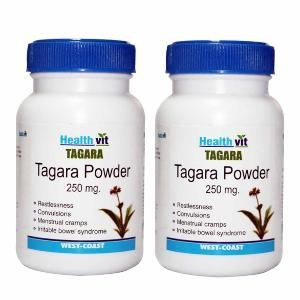 Picture of HealthVit Tagara Powder 250 mg 60 Capsules (Pack Of 2) For Sleep Disorders