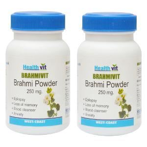 Picture of HealthVit BRAMHIVIT Bramhi powder 250 mg 60 Capsules (Pack Of 2)