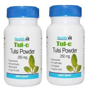 Picture of HealthVit TUL-C Tulsi powder 250 mg 60 Capsules (Pack Of 2)
