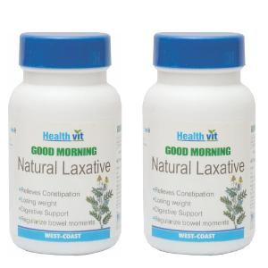 HealthVit GOOD MORNING Natural Laxative 60 Tablets (Pack Of 2)