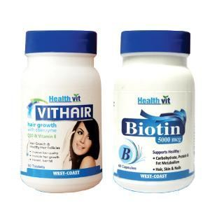 Picture of HealthVit Hair And Skin Care Kit 60 Capsules