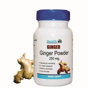 Picture of HealthVit Ginger powder 250 mg 60 Capsules  (Pack Of 2)