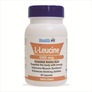 Picture of Healthvit L-Leucine 500mg. 60 Capsules