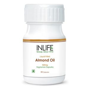 Picture of INLIFE Almond Oil (60 Vegetarian Capsules)