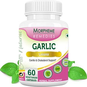 Picture of Morpheme Garlic Capsules for Cardio & Cholesterol Support - 500mg Extract - 60 Veg Capsules