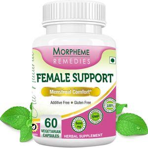 Picture of Morpheme Female-Support Supplements For Menstrual Comfort - 600mg Extract - 60 Veg Capsules-1 Bottle