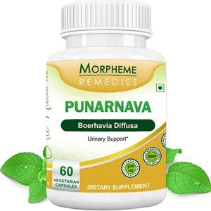 Picture of Morpheme Punarnava (Boerhavia Diffusa) For Urinary Support - 500mg Extract - 60 Veg Capsules-1 Bottle