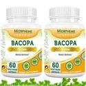 Picture of Morpheme Bacopa (Brahmi) Capsules for Mental Alertness - 500mg Extract - 60 Veg Capsules - 2 Bottles
