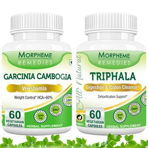Picture of Garcinia Cambogia + Triphala Supplement For Weight Loss-2 bottels