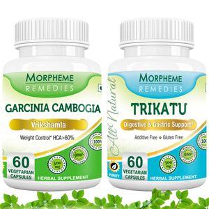 Picture of Garcinia Cambogia + Trikatu  For Appetite Suppressant-2 bottels