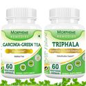 Picture of Morpheme Garcinia Cambogia Green Tea + Triphala Supplement For Weight Loss-2 bottles