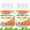 Picture of Morpheme Natural Slim + Triphala Guggul Supplement For Weight Loss-2 bottels