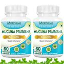 Picture of Morpheme Mucuna Pruriens (Kapikachhu) - For Mood & Performance - 500mg Extract - 60 Veg Capsules - 2 Bottles