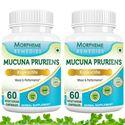 Picture of Morpheme Mucuna Pruriens (Kapikachhu) - For Mood & Performance - 500mg Extract - 60 Veg Capsules - 2 Bottles