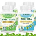 Picture of Morpheme Aloe Vera + Wheatgrass For Immunity, Vitamins, Daily Essentails  (4 Bottles)