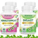 Picture of Morpheme Female Support + Shilajit For Women's Health Care (4 Bottles)
