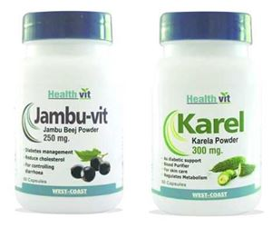 Picture of HealthVit Diabetic Care Kit-60 Capsules