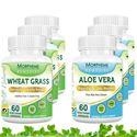 Picture of Morpheme Aloe Vera + Wheatgrass For Immunity, Vitamins, Daily Essentials (6 Bottles)