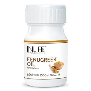 Picture of INLIFE Fenugreek Oil (60 Veg. Caps)