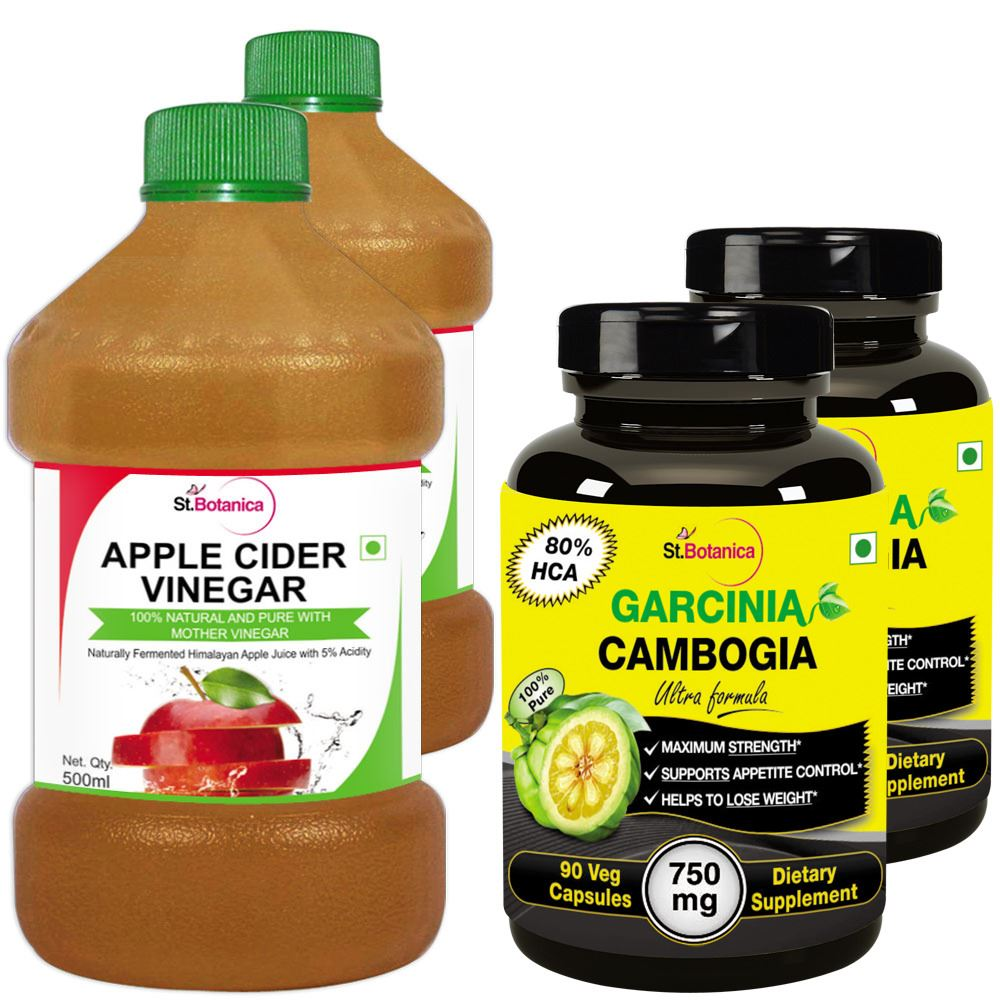 Stbotanica Apple Cider Vinegar 500ml Garcinia Cambogia Ultra 80 Hca 750mg 90 Veg Caps 4 Bottles 2 2
