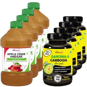 Picture of StBotanica Apple Cider Vinegar - 500ml + Garcinia Cambogia Ultra - 90 Veg Caps - 8 Bottles (4+4)