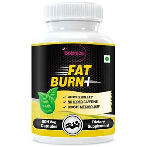 Picture of StBotanica Fat Burn+ Dietary Supplement For Weight Loss (With Garcinia, Raspberry Ketones & Green Tea) - 60 Veg Capsules