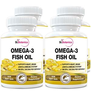 Picture of StBotanica Omega 3 Fish Oil - 60 Softgels - Pack Of 4