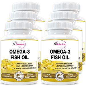 Picture of StBotanica Omega 3 Fish Oil - 60 Softgels - Pack Of 6