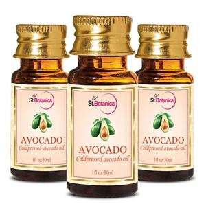 Picture of StBotanica Avocado Pure Coldpressed Carrier Oil, 30ml - 3 Bottles