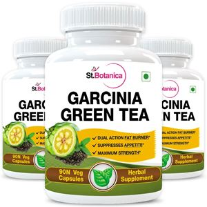 Picture of StBotanica Garcinia Green Tea 500mg Extract - 90 Veg Capsules - 3 Bottles