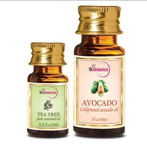 Picture of StBotanica Tea Tree Essential Oil (10ml) + Avocado Carrier Oil (30ml)