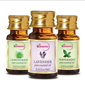 Picture of StBotanica Lemongrass + Lavender + Peppermint Pure Essential Oil (10ml Each)