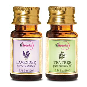 Picture of StBotanica Lavender + Tea Tree Pure Essential Oil (10ml Each)