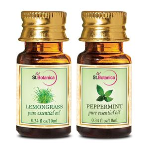 Picture of StBotanica Lemongrass + Peppermint Pure Essential Oil (10ml Each)