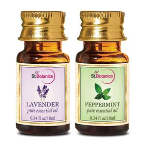 Picture of StBotanica Lavender + Peppermint Pure Essential Oil (10ml Each)