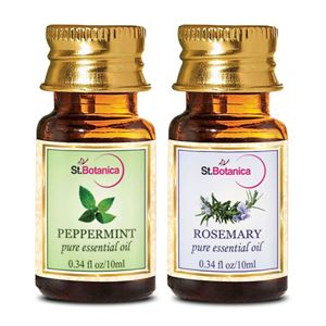 Picture of StBotanica Rosemary + Peppermint Pure Essential Oil (10ml Each)