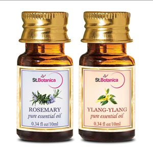 Picture of StBotanica Rosemary + Ylang-Ylang Pure Essential Oil (10ml Each)
