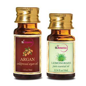 Picture of StBotanica Argan Oil (30ml) + Lemongrass Pure Essential Oil (10ml)