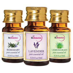 Picture of StBotanica Lavender + Lemongrass + Rosemary Pure Essential Oil (10ml Each)