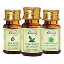 Picture of StBotanica Lemongrass + Peppermint + Tea Tree Pure Essential Oil (10ml Each)