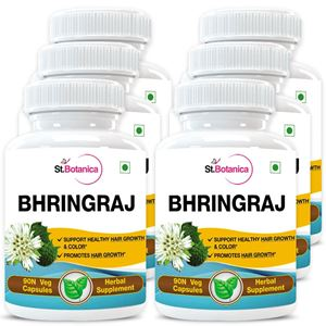 Picture of StBotanica Bhringraja (Eclipta Alba) 500mg Extract - 90 Veg Caps - 6 Bottles