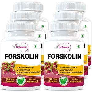 Picture of StBotanica Forskolin 500mg Extract - 90 Veg Capsules - 6 Bottles