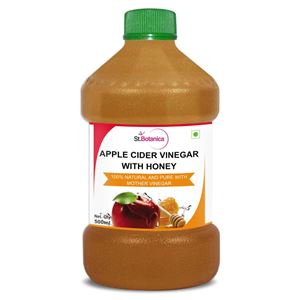 """Picture of StBotanica Apple Cider Vinegar With Honey - 500ml - 100% Natural With Goodness of """"Mother"""" of Vinegar"""