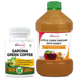 Picture of StBotanica Garcinia Green Coffee 500mg Extract + Apple Cider Vinegar With Honey