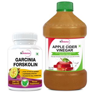 Picture of StBotanica Garcinia Forskolin 500mg Extract + Apple Cider Vinegar