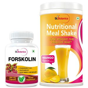 Picture of StBotanica Forskolin 500mg Extract + Nutritional Meal Replacement Shake