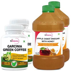 Picture of StBotanica Garcinia Green Coffee 500mg Extract + Apple Cider Vinegar With Honey (2+2 Bottles)
