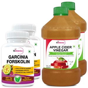 Picture of StBotanica Garcinia Forskolin 500mg Extract + Apple Cider Vinegar (2+2 Bottles)