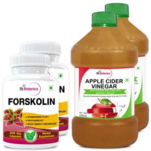 Picture of StBotanica Forskolin 500mg Extract + Apple Cider Vinegar (2+2 Bottles)