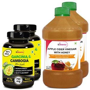 Picture of StBotanica Garcinia 750mg + Apple Cider Vinegar With Honey (2+2 Bottles)